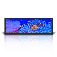China Wall Mount Stretched LCD Display 19.7 Inch Windows System Query HD Split Screen supplier