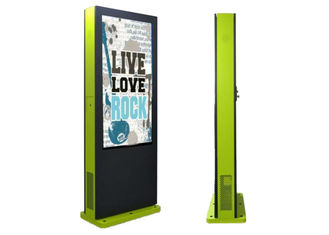 China Metal Outdoor Digital Advertising Screens , Outdoor LCD Signs Windows OS 55 Inch supplier