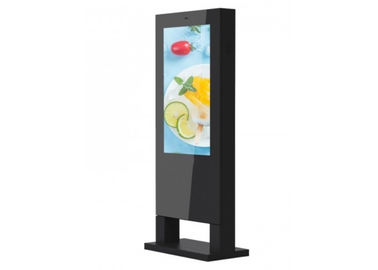 China Windows OS Floor Standing LCD Advertising Display , Outdoor Digital Signs For Business supplier