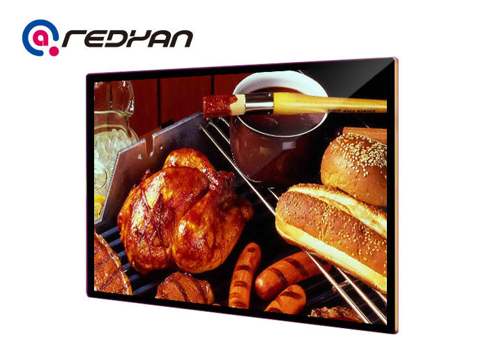 Wireless LCD Menu Board Digital Signage Touch Screen For Coffee Shop