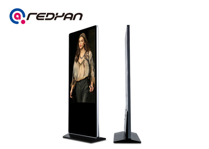 Metal Stand Alone Digital Signage 350nits HD LCD Display 1920*1080P Resolution