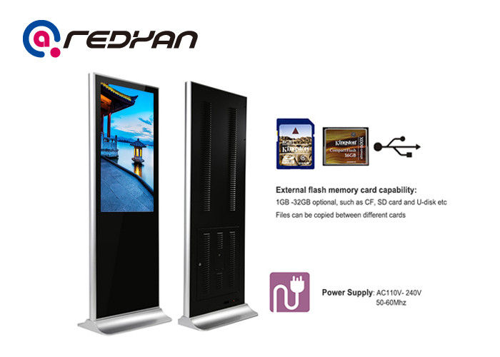 Custom Stand Alone Electronic Advertising Display Screen Interactive In Retail