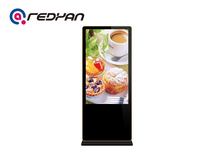 Wheel Wifi Digital Restaurant Digital Menu Board Floor Standing With Remote Control