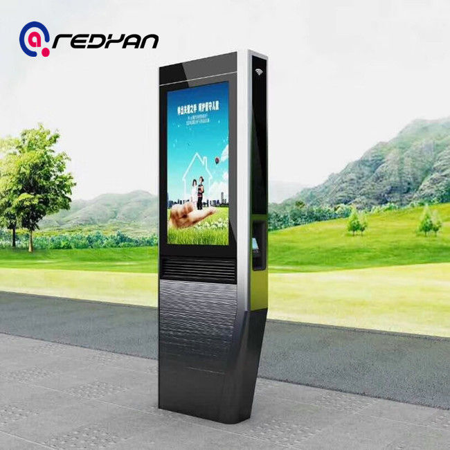 65 Inch Totem Digital Signage , Lcd Advertising Player Poster Telephone Booth