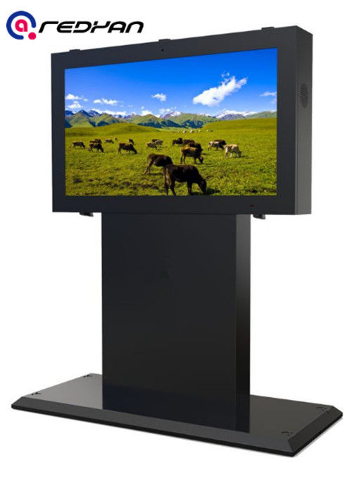 Railway Station Outdoor Digital Signage Kiosk Horizontal Screen High Brightness Lcd Poster