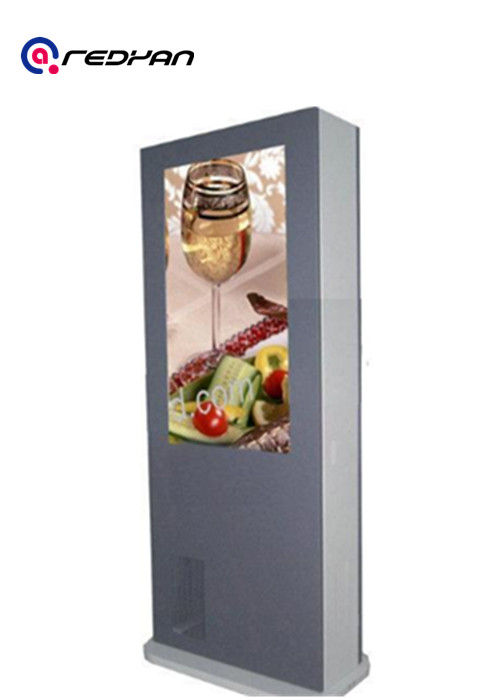 Outdoor Standing Poster Vertical Digital Signage 24 / 7 Working LCD Display With Smart IOT
