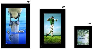 China PC 22 Inch Interactive Touch Screen Digital Signage , Wall Mount LCD Display factory