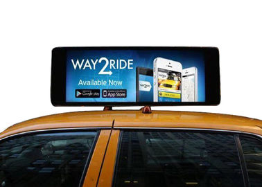 High Performance Taxi Top Digital Signage Long Hour Advertising Playing