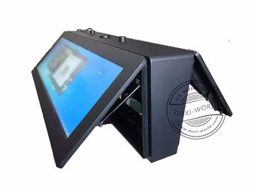 Pcap Foil Touch Outdoor LCD Digital Signage 58 Inch Station Display Battery Built In