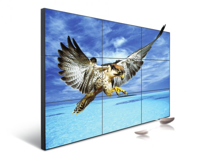 55 Inch LCD 2 X 2 Video Wall Digital Signage 1.7mm Bezel With 400nits Brightness