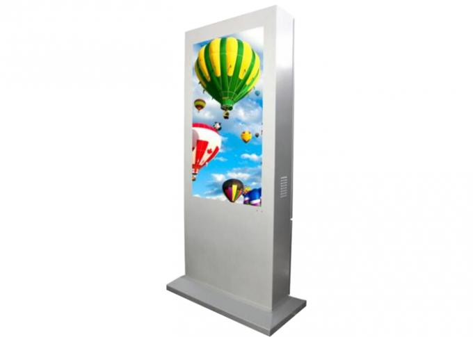 Android OS Outdoor LCD Advertising Display , LCD Touch Screen Kiosk 65 Inch
